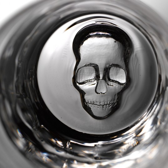 skull low ball glasses